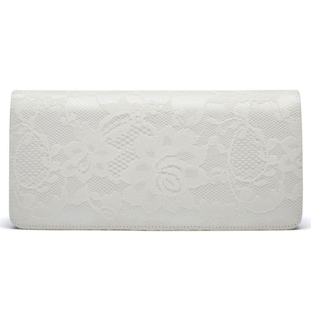 Rainbow Club Tilly Dyeable Ivory Lace Wedding Clutch Bag