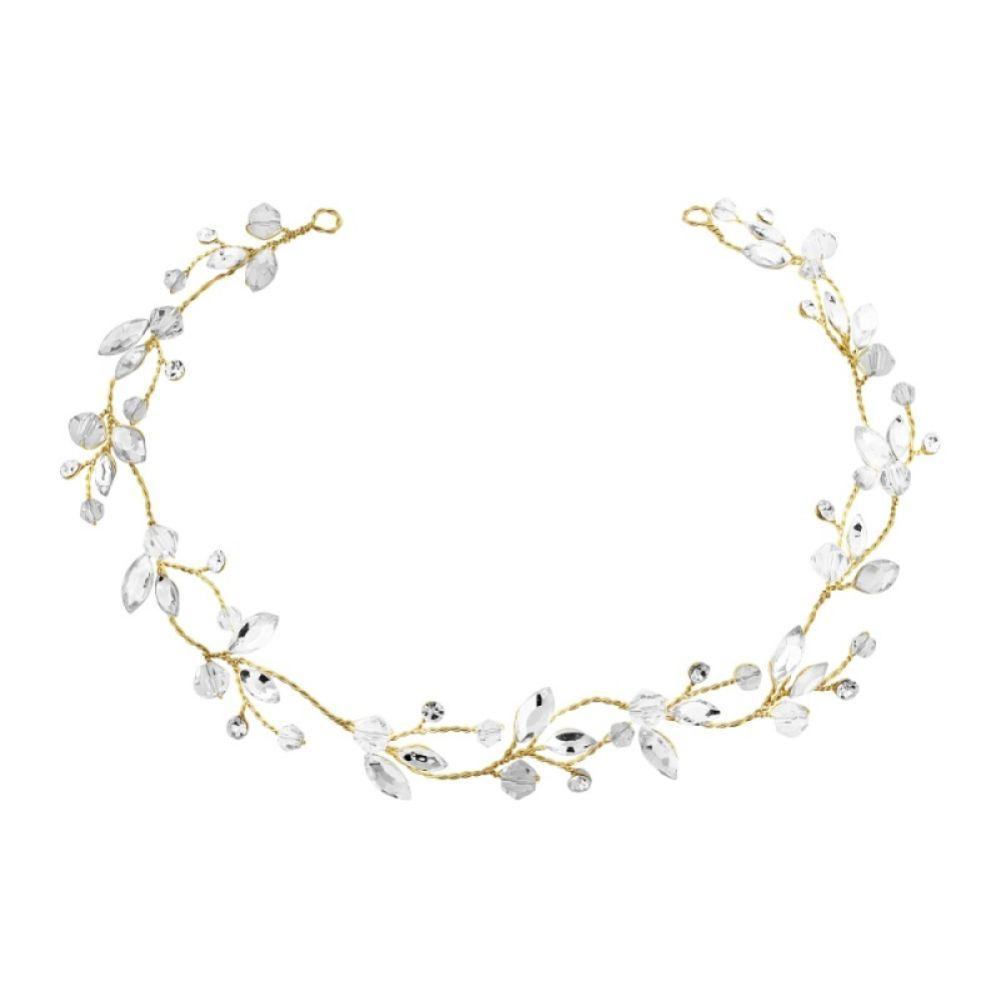SassB Casey Chic Crystal Bridal Hair Vine (Gold)