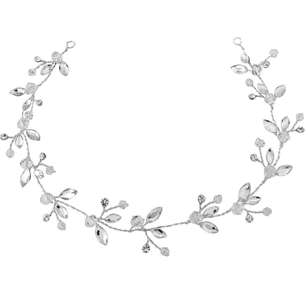 SassB Casey Chic Crystal Bridal Hair Vine (Silver)