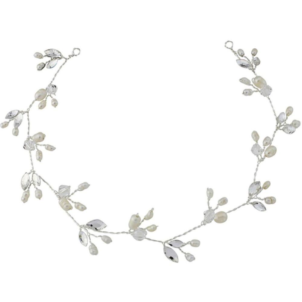SassB Casey Chic Freshwater Pearl Bridal Hair Vine (Silver)