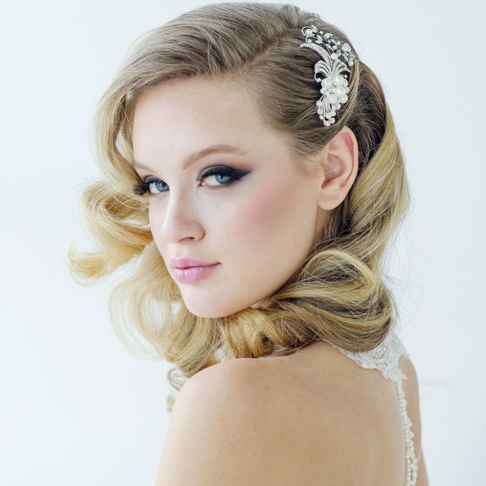 SassB Vera Gatsby Style Pearl Wedding Hair Comb