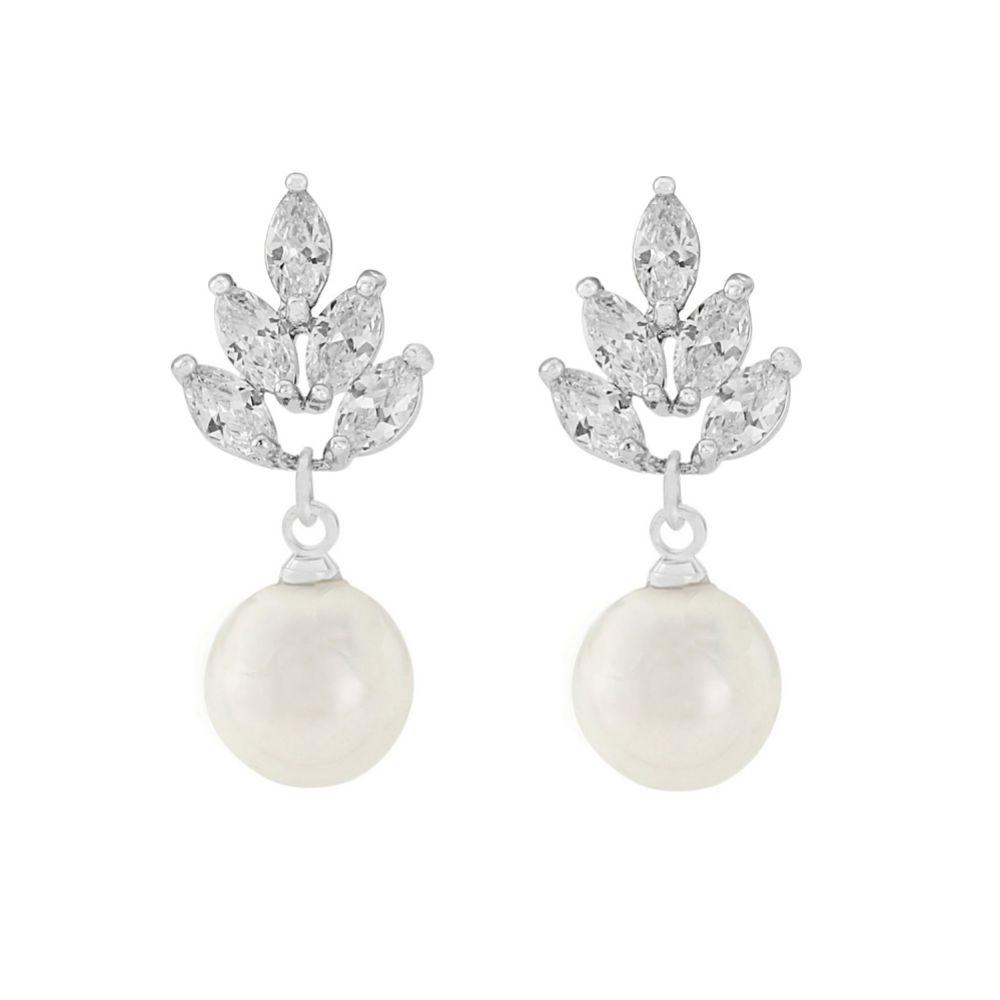 Vienna Vintage Pearl Drop Wedding Earrings
