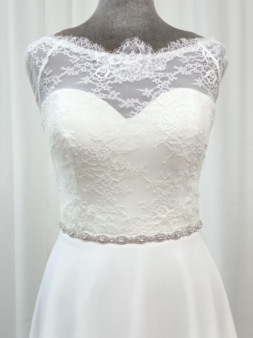 Hadley Narrow Oval Diamante Bridal Belt