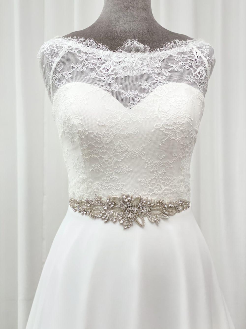 Hamilton Vintage Beaded and Crystal Embellished Bridal Belt