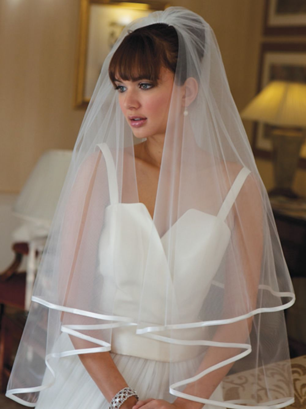 Joyce Jackson Jakarta Satin Edge Wedding Veil