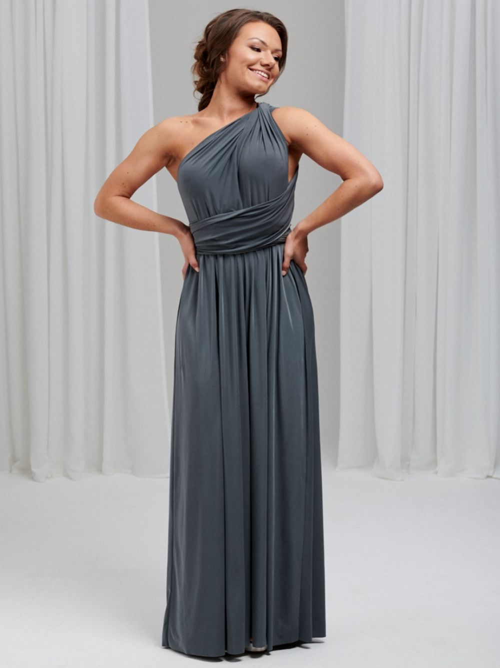 Lily Rose Slate Grey Multiway Bridesmaid Dress