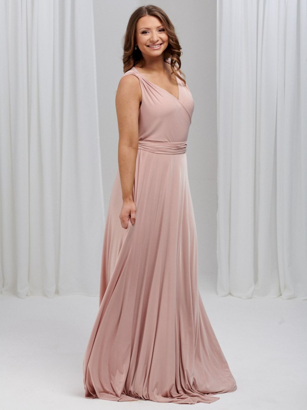 Only Way Ruched Sweetheart Neckline Wrap Bridesmaid Dress
