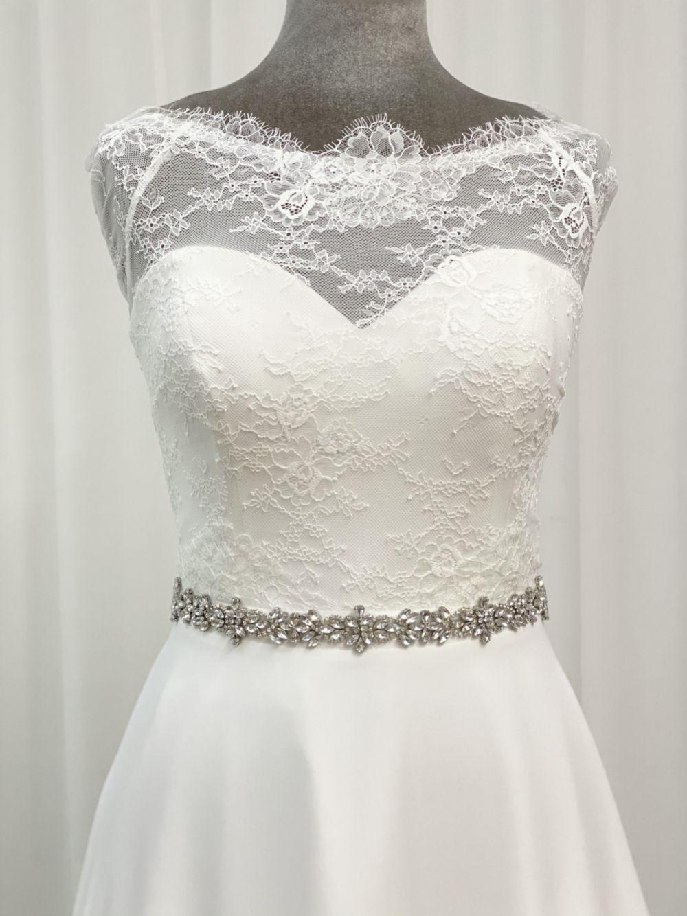 Perfect Bridal Arabella Elegant Slim Crystal Wedding Belt
