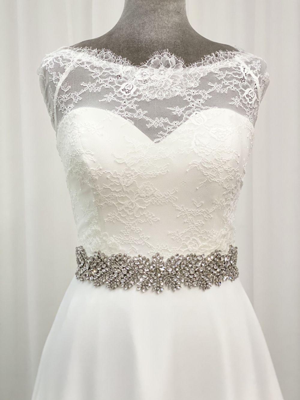 Perfect Bridal Evita Wide Statement Crystal Dress Belt