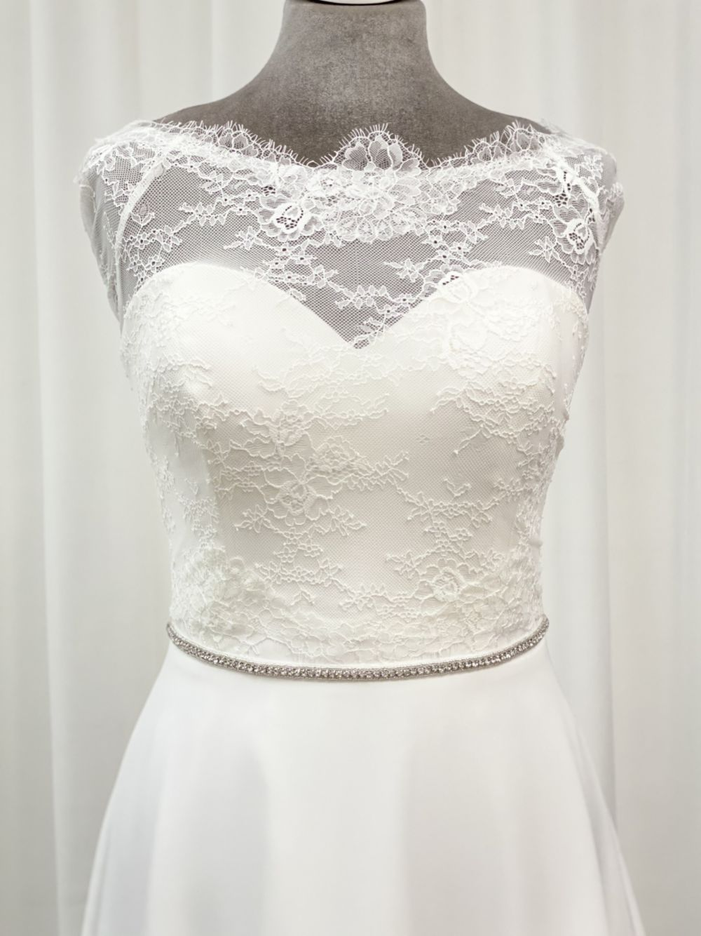 Perfect Bridal Rhiannon Thin Sparkly Diamante Dress Belt