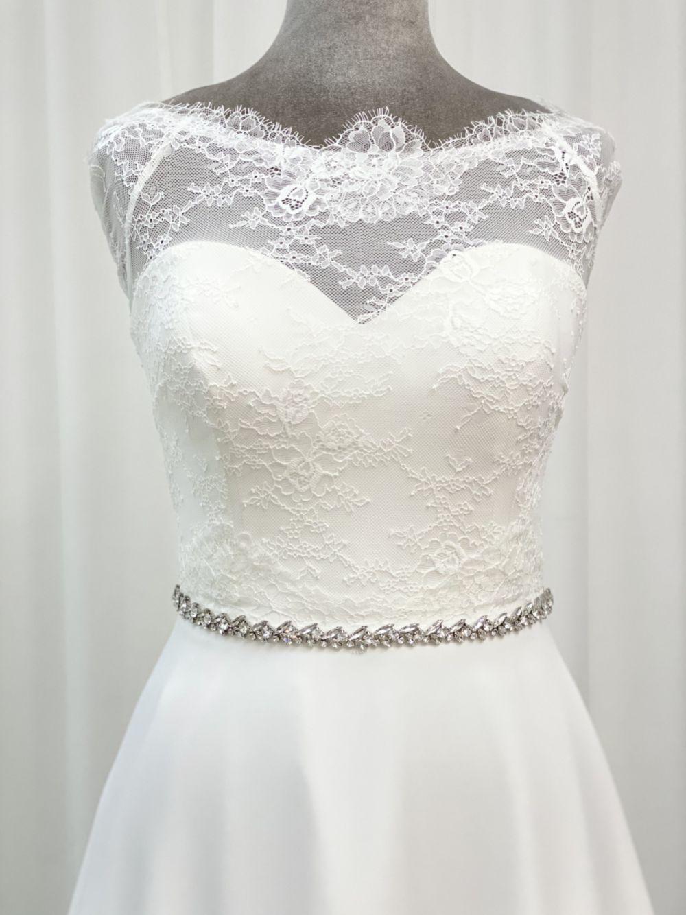 Perfect Bridal Taylor Thin Crystal Wedding Dress Belt