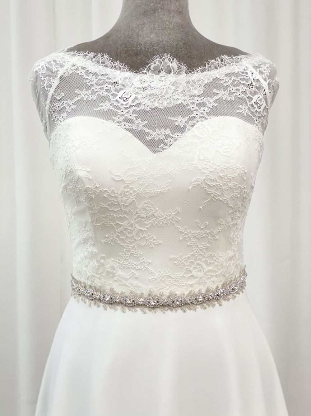 Wentworth Vintage Inspired Crystal and Feather Bridal Belt