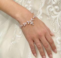 Adelaide Rose Gold Vintage Inspired Crystal Bracelet
