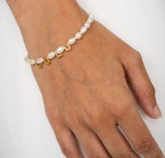 Arianna Gold Personalised Name Pearl Bracelet ARW681