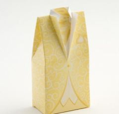 Gents Morning Suit Pale Gold Favour Box - Pack of 10