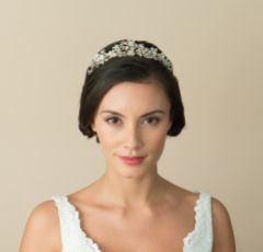 Ivory and Co Goldust Enamelled Blossoms Wedding Tiara