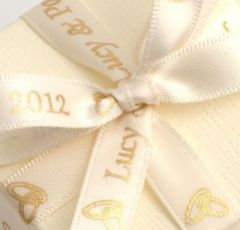 Ivory Personalised Ribbon - 25m