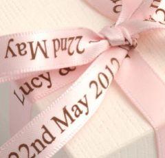 Pale Pink Personalised Ribbon - 25m