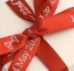 Red Personalised Ribbon - 25m