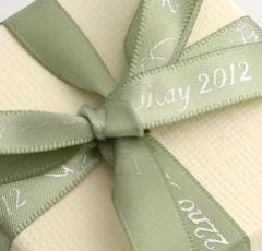 Sage Green Personalised Ribbon - 25m