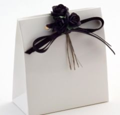 White Glossy Sacchetto Favour Box - Pack of 10