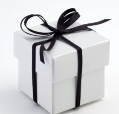 White Glossy Square Favour Box - Pack of 10