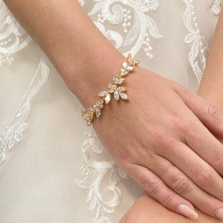 Adelaide Gold Vintage Inspired Crystal Bracelet