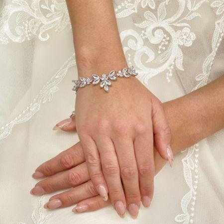 Adelaide Silver Vintage Inspired Crystal Bracelet