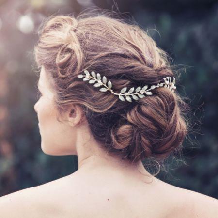 Alba Leaves and Pearl Bridal Hair Vine