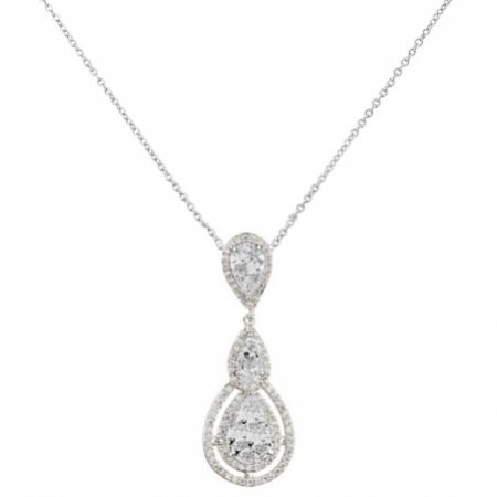 Alessandra Vintage Inspired Crystal Pendant Necklace