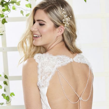 Arianna Captivated Draped Pearl and Crystal Back Jewellery ARN096
