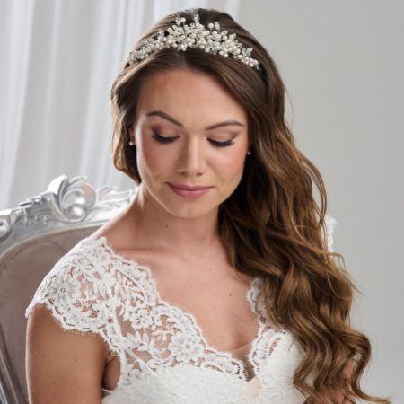 Arianna Classic Peaked Pearl Wedding Tiara AR405