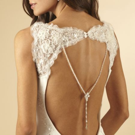 Arianna Crystal and Diamante Wedding Back Jewellery ARN055