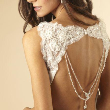 Arianna Crystal Wedding Back Jewellery with Diamante Dropper ARN088
