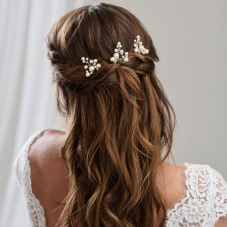 Arianna Everlasting Set of 3 Pearl Hair Pins ARP598
