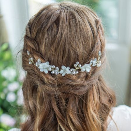 Arianna Floral Bridal Hair Vine on Comb AR531