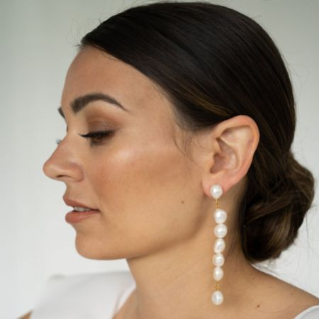 Arianna Freshwater Pearl Long Drop Earrings ARE698