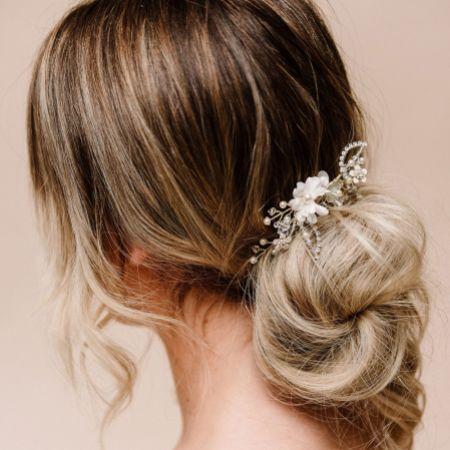Arianna Meadowsweet Mini Floral Hair Comb AR602