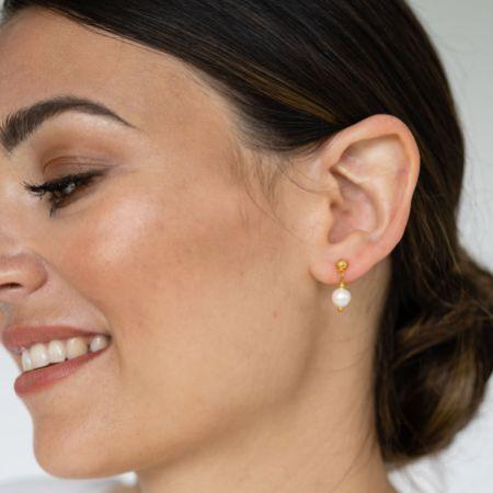 Arianna Mini Pearl Drop Earrings ARE693