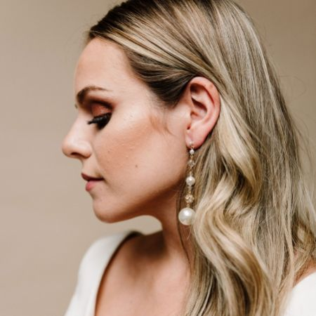 Arianna Mira Chunky Pearl Long Drop Earrings ARE614