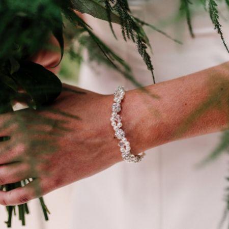 Arianna Mira Dainty Pearl and Crystal Bracelet ARW613