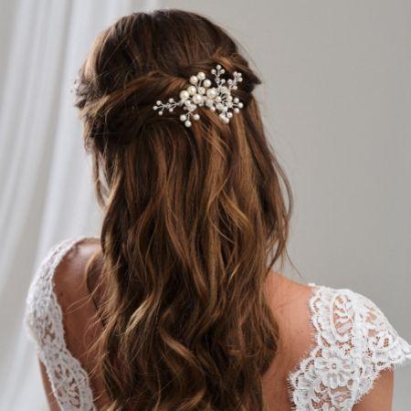 Arianna Mira Pearl and Crystal Hair Comb AR614