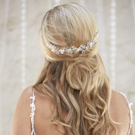 Arianna Neoma Filigree Flowers Wedding Hair Vine AR563