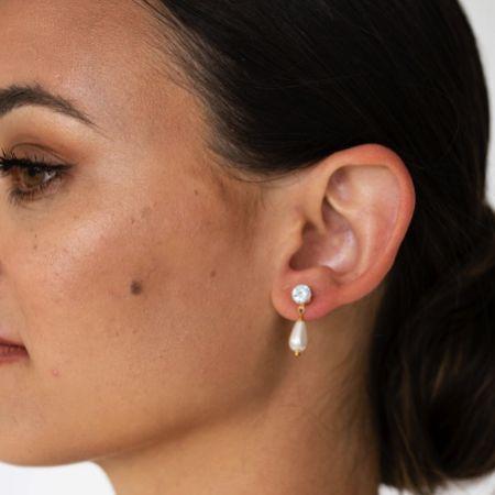 Arianna Pearl Teardrop Earrings ARE678