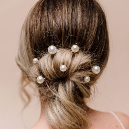 Arianna Purity Set of 6 Pearl Wedding Hair Pins ARP617