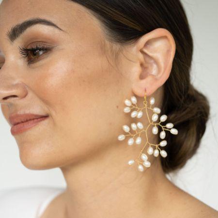 Arianna Rice Pearl Spray Earrings ARE691