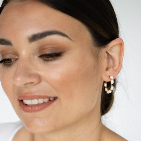 Arianna Seed Pearl Hoop Earrings ARE697