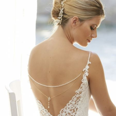 Arianna Seren Vintage Style Back Jewellery with Chain Drapes ARN112