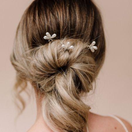 Arianna Set of 3 Pearl Bright Star Hair Pins ARP597