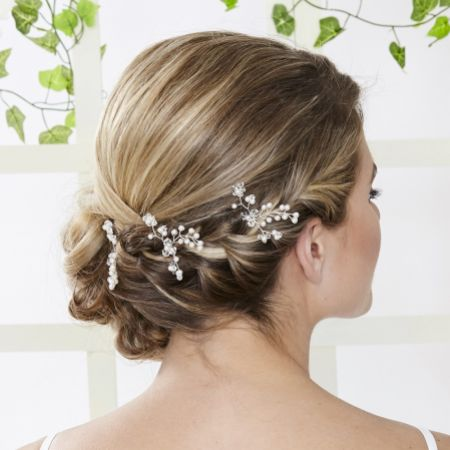 Arianna Set of 3 Wild Flower Bridal Hair Pins ARP551